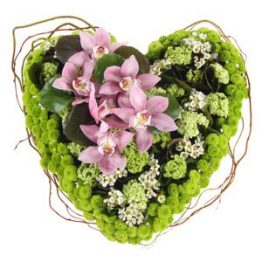 Flower Heart – FC05 Cuore funebre con orchidee
