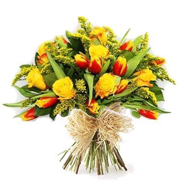 Bouquet fiori misti – con girasoli gerbere lilium