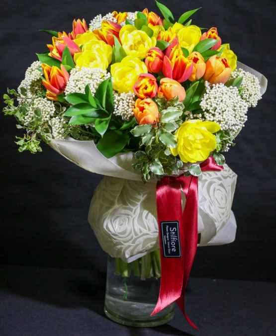 Bouquet tulipani arancio – 20200502 122252