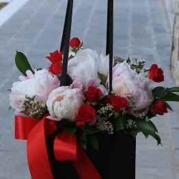 flower bag rose e peonie