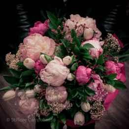bouquet tulipani e peonie