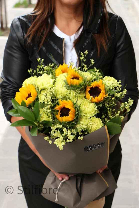 Bouquet di girasoli e dianthus – Sunflower